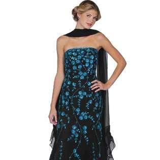 Dress. Black Evening Gown. Womens Long Evening Gown. Prom Dress