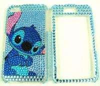 Blue cartoon Stitch Apple iphone 4 4G Rhinestone crystal bling hard