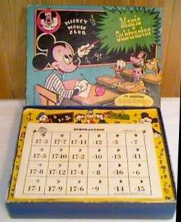 Mickey Mouse Club Magic Subtractor Game Works