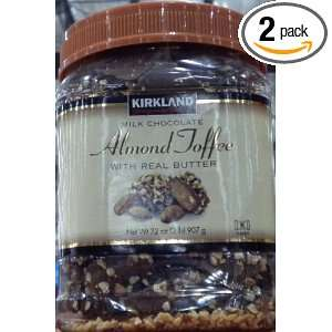 Milk Chocolate Almond Toffee Butter Roca Candy 2 LB x 2 (Pack of 2