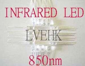 200p 5mm INFRA RED InfraRed LED LAMP LIGHT Bulb 850nm