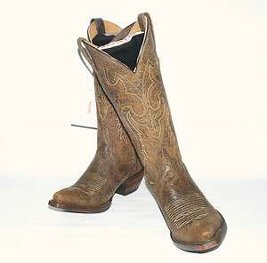 Resistol Ranch Western Boots Distress Tobacco Brown # M3420 Snip Toe