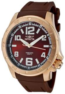 Invicta Watch 1906 Mens Specialty Brown Dial 18K Rose Gold Plated SS