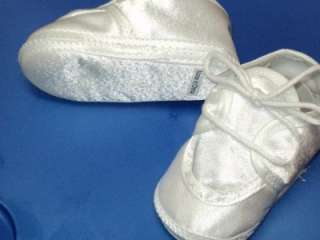 Baby Boys White Christening Baptism Shoes/222/ Size 0
