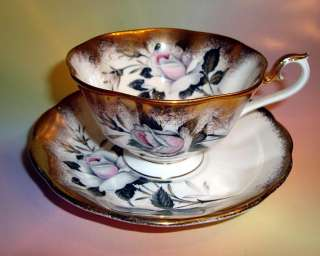 White Rose & Lots Gold Royal Albert Tea Cup and Saucer Set