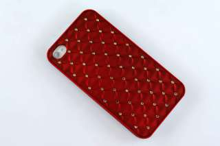 Diamond Bling Deluxe Hard Rubber Case Cover For Apple iphone 4 4G 4S