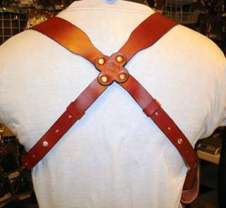 LEATHER SHOULDER HOLSTER RIG FOR COLT 1911 4.25 COMMANDER 1991 A1 NON