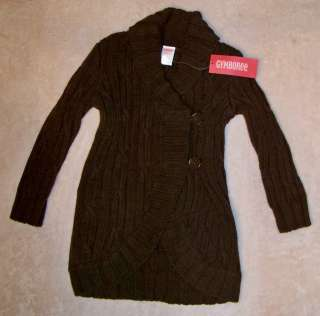 NWT Gymboree ALPINE SWEETIE Brown Shawl Neck Long Sweater M 7 8