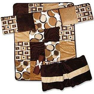 Bubbles 4 Pc. Crib Bedding Set, Brown  Trend Lab Baby Bedding Bedding