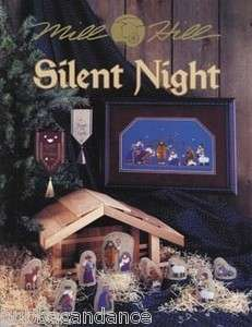 Silent Night Nativity Cross Stitch w Beads Ornaments Mill Hill Book