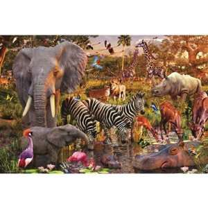 African Animals 3000 Piece Puzzle Toys & Games