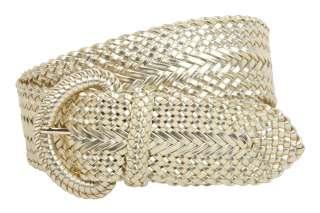 Inch Wide Hand Made Soft Metallic Woven Braided Round Belt