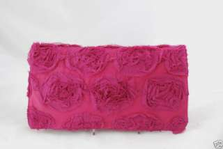Satin Flower Special Occasion Evening Clutch