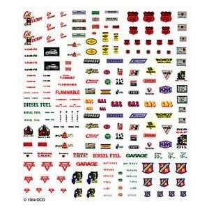 Scenics   Service Station Signs Decal Sheet (Trains) Toys & Games