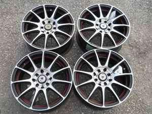 15 ICW Black 10 Spoke Wheel Set 4 Lug 100MM 4.5 LKQ