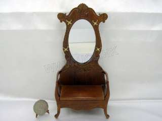 Miniature Hall Tree/Hall Stand For Doll House