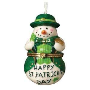 St Patricks Day Porcelain Trinket Box Ornament NEW