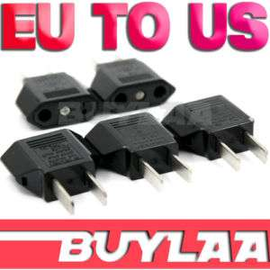 AC Travel Power Adapter Plug European Euro to US