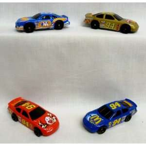 McDonalds   Nascar Hot Wheels Complete Happy Meal Set