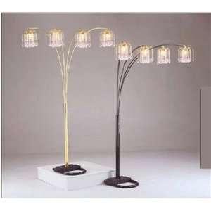 86 4 Arm Chandelier Floor Lamp Art Deco Black Crystal Nice