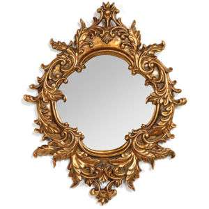 Soleil Gold Mini Mirror Baroque Martelle Wall Brand NEW