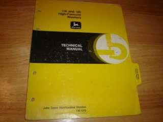 John Deere 118 120 High Pressure Washers Manual