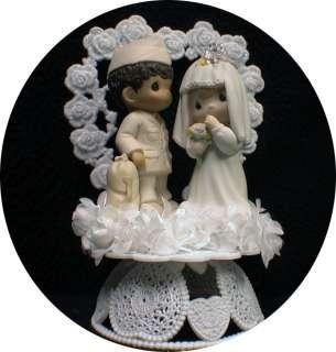 groom Precious Moments figurine Wedding Cake Topper Amry navy