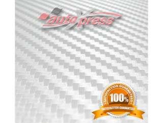 WHITE 3D Carbon Fibre Vinyl Sheet 80 x 200cm 2.6x 6.6ft