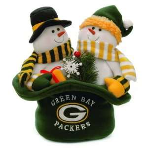 12 NFL Green Bay Packers Snowmen Top Hat Table Christmas