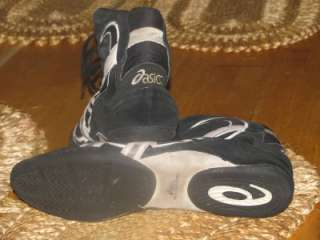 ASICS Mens WRESTLING Martial Arts Shoes Black Suede SIZE 14