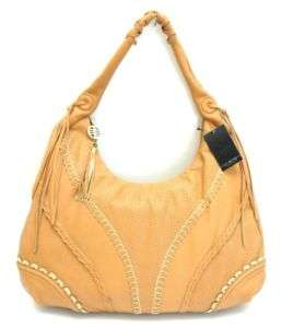 NWT $280 VIA SPIGA ~PERF CITY LARGE HOBO BAG TAN BROWN