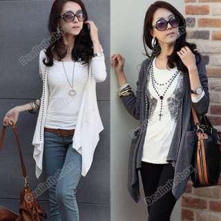 Fashion Korea Women Long Sleeve Cotton Blends Coat Jacket Tops Cotton