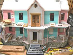 Large Two Story Victorian Style Dollhouse with Attic