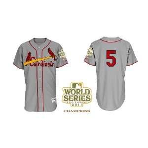 St. Louis Cardinals Authentic MLB Jerseys Albert Pujols GREY Cool Base