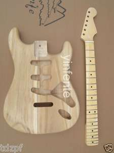 New high quality Unfinished electric guitar body+neck