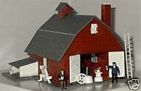 MODEL POWER HO SCALE HORSE STABLE LIGHTED BUILDING