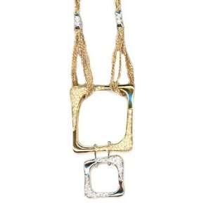 18k TWO TONE GOLD WOMENS NECKLACE LN 1662 DIAMOND 1.24CT TW Jewelry