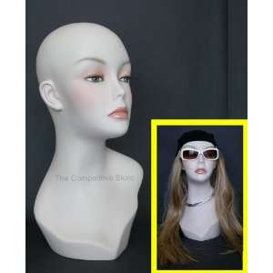 Female Head Mannequin Form Flesh Tone 17 Inch Arts