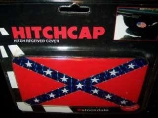 CONFEDERATE FLAG METAL HITCHCAP HITCH COVER CAR TRUCK