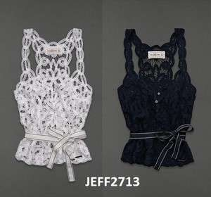 Abercrombie & Fitch Fashion Top Kendell Lace Tank Shirt Hollister