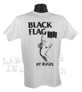 BLACK FLAG MY RULES Old School ROLLINS PUNK T Shirt