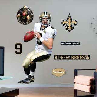 Saints Posters Fathead New Orleans Saints Drew Brees Wall Graphic