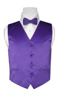 Covona BOYS PURPLE INDIGO Dress Vest BOW TIE Set sz 10