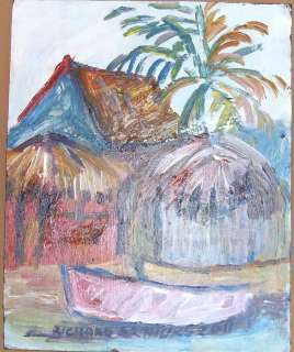 JAMAICA OIL PAINTING SIGNED BY RICHARD ARTHURS