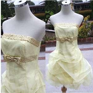 NWT JESSICA McCLINTOCK $110 Yellow Cocktail Dress 5