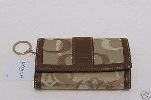 Coach NEW Khaki Optic Signature Wallet Coin Purse 40503