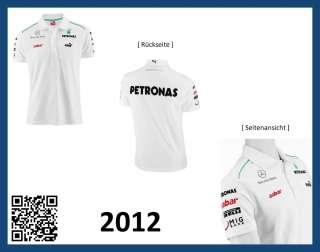 Original Mercedes AMG Petronas Formel 1 F1 Poloshirt Team 2012  Gr. S