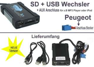 USB SD  AUX Adapter Wechsler Peugeot / Citroen #8
