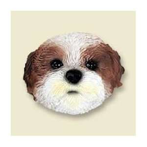 Shih Tzu Puppy Cut Dog Magnet   Brown & White: Kitchen