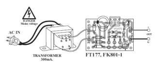 / 220VAC Regulator Power Supply DC 6V 9V 12V 300mA Transformer kit